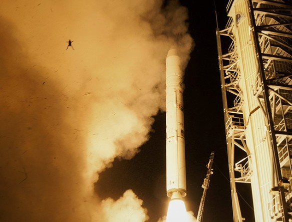 A frog at lift off of the Lunar Atmosphere and Dust Environment Explorer