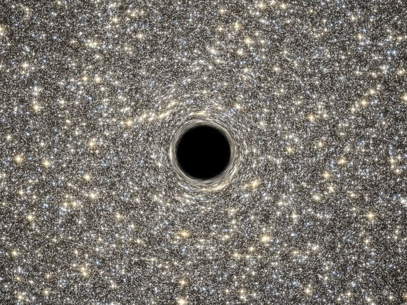 Artist's concept of supermassive black hole within M60-UCD1