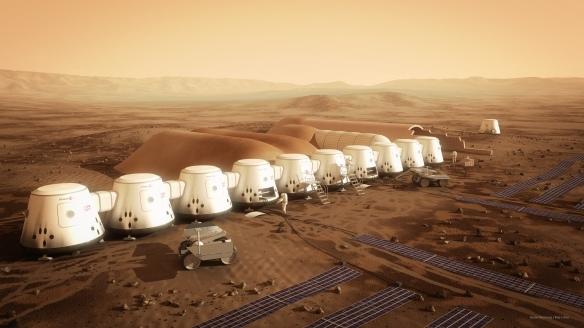 Mars One 2025 settlement