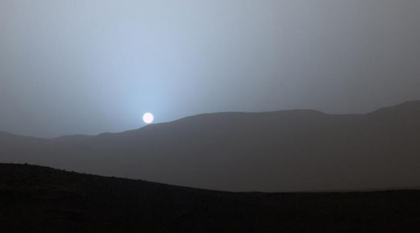 Mars sunset by Curiosity