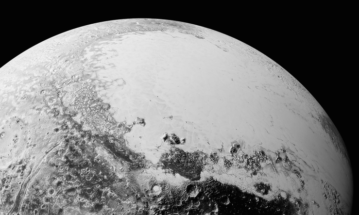 Pluto-icy plains