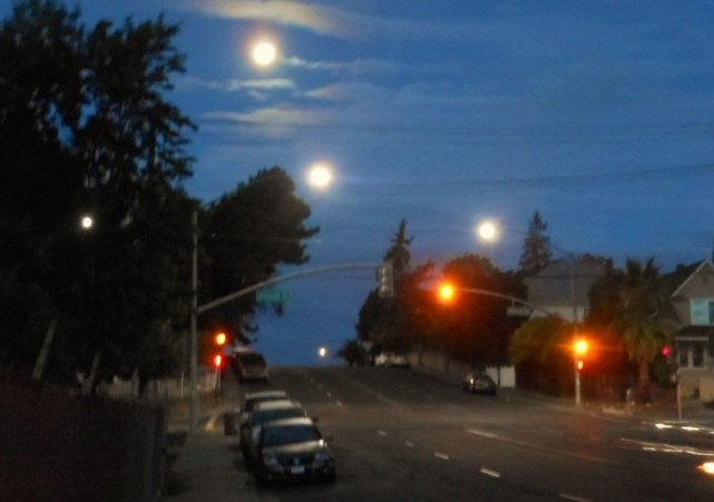 Triple full moon over Vallejo