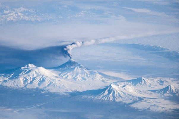 siberian volcano from ISS