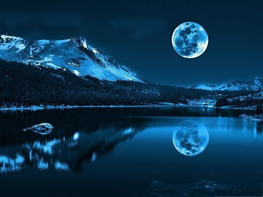 reflected-moon