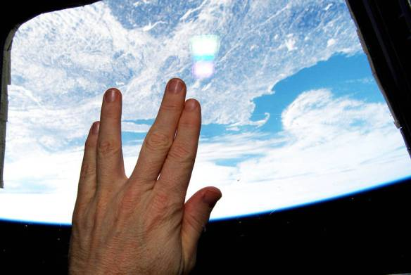 farewell to Spock from the ISS